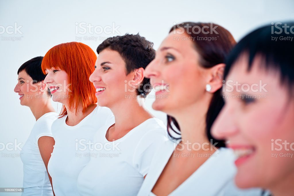 Smiling women  Adult Stock Photo