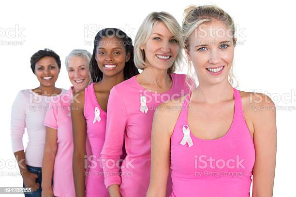 Smiling women wearing pink and ribbons for breast cancer picture id494282355?b=1&k=6&m=494282355&s=612x612&h=gwrj5v6xdkyrqievktivtsbqflrxvvf6d89yxpicyz4=