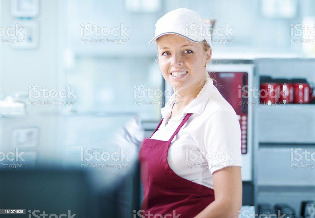 Trabalhador sorridente - foto de acervo