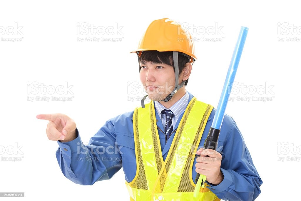 Smiling worker royalty-free stock photo