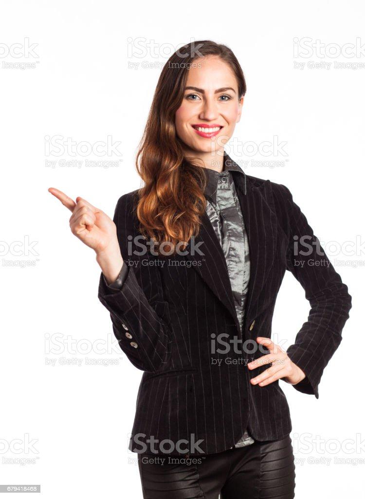 Smiling working girl royalty-free stock photo