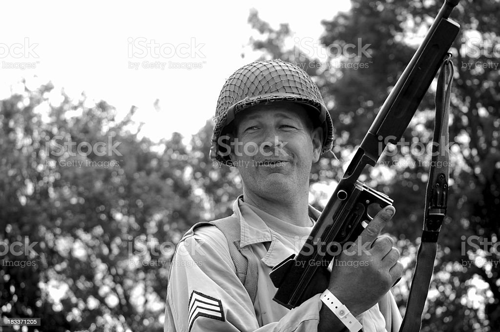 Smiling Yank. stock photo