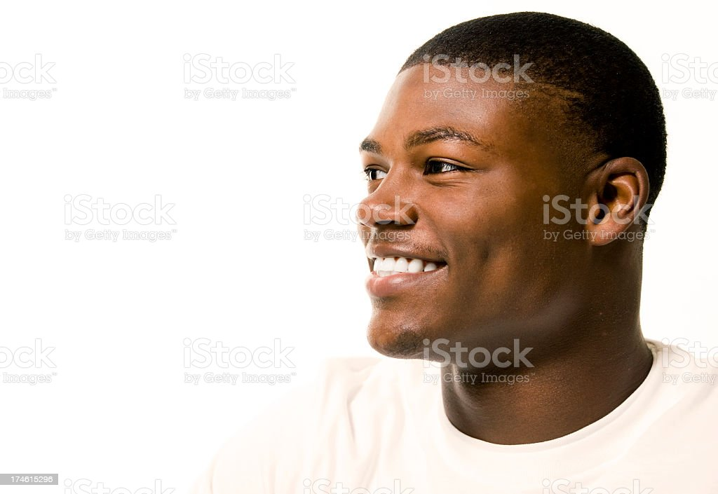 Smiling young African American male stock photo