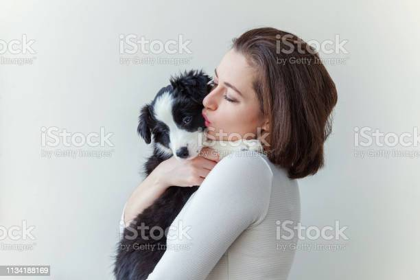 Smiling young attractive woman embracing huging cute puppy dog border picture id1134188169?b=1&k=6&m=1134188169&s=612x612&h=6ieuminvfkr1luifg8nxxam1owd5bcyblfpr28yzl7q=