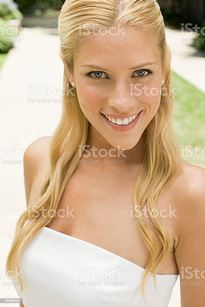 Smiling young bride royalty-free stock photo