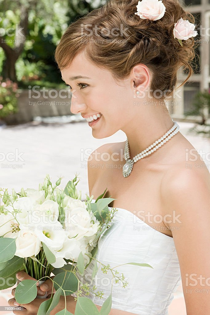 Smiling young bride 免版稅 stock photo