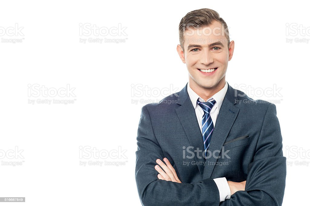 Smiling young business man royalty-free stock photo