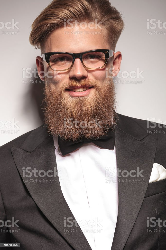 smiling young business man stock photo