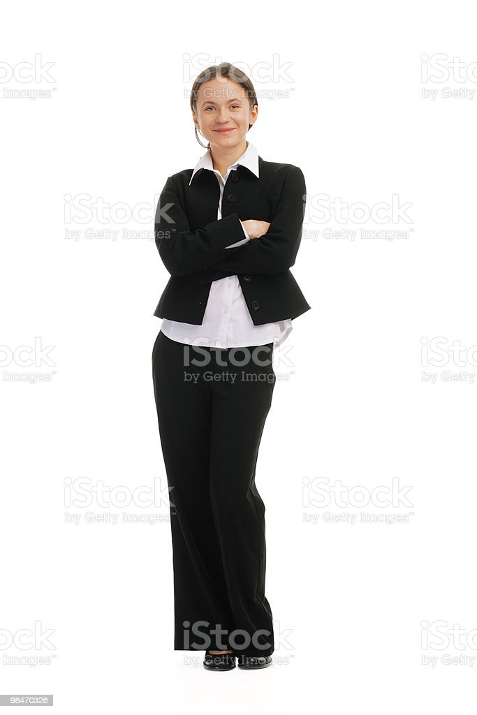 Smiling young business woman royalty-free stock photo