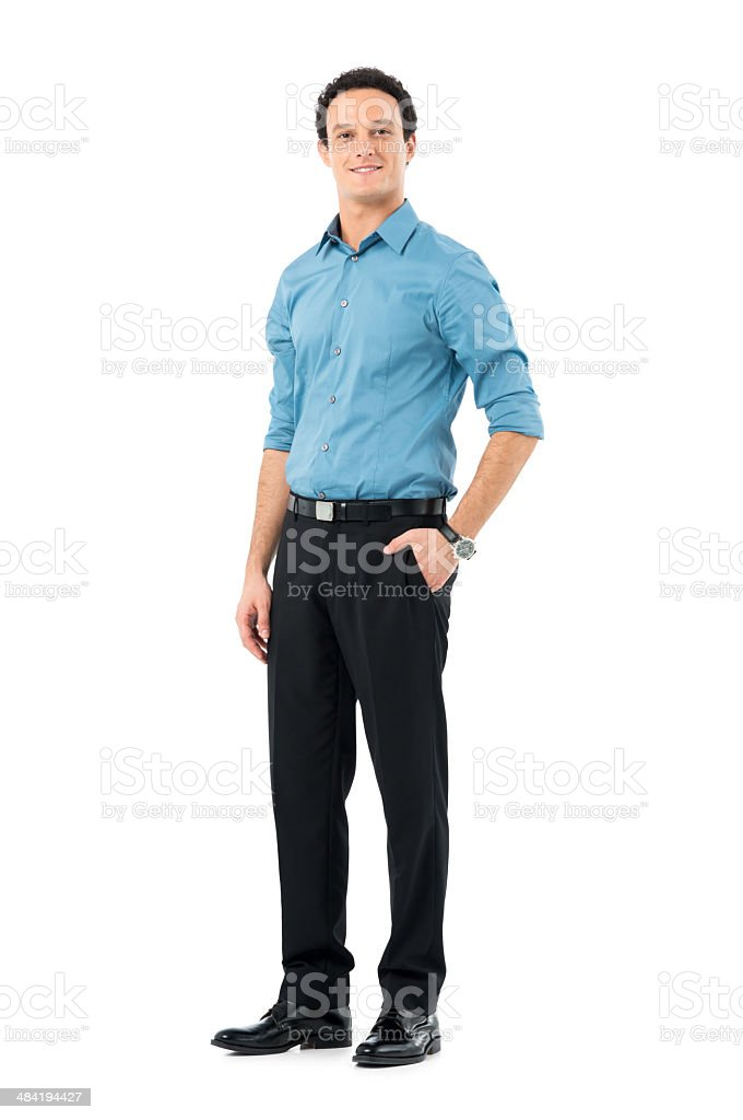 Smiling Young Businessman stock photo