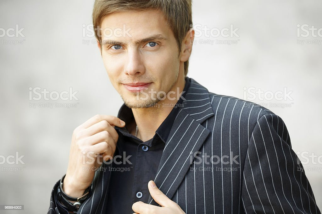 Smiling young businessman royalty-free stock photo