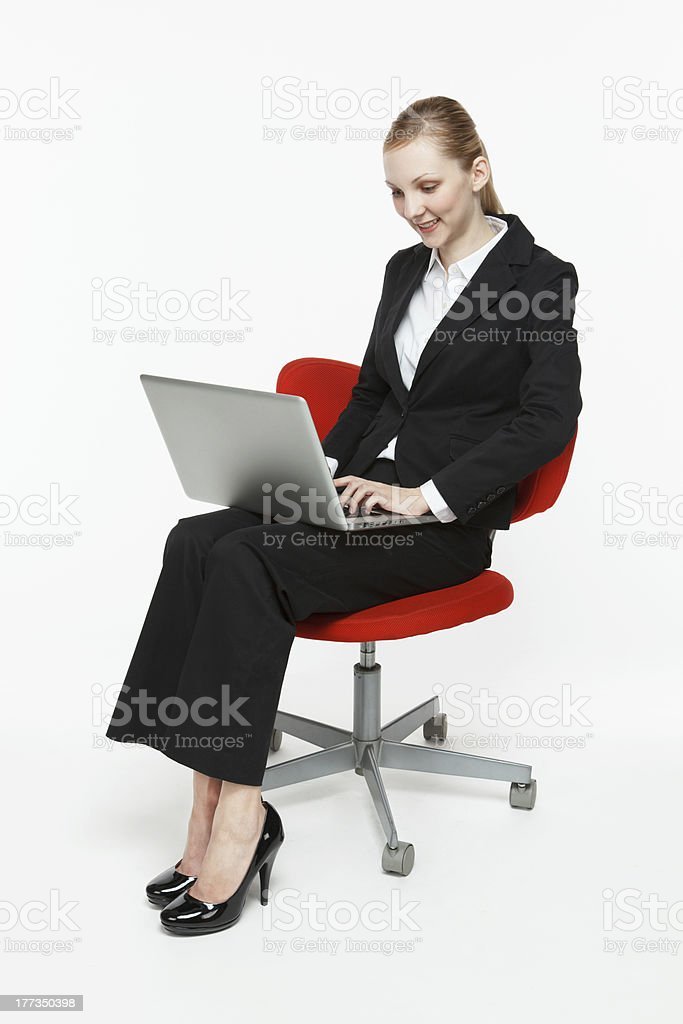 Smiling young businesswoman royalty-free stock photo