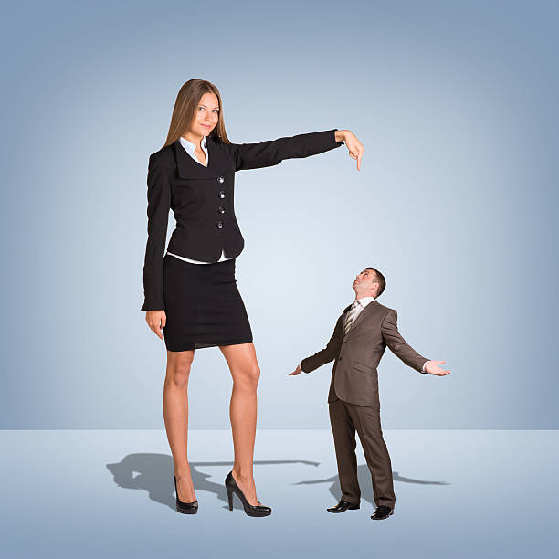Tall Woman Short Man Stock Photos, Pictures & Royalty-Free