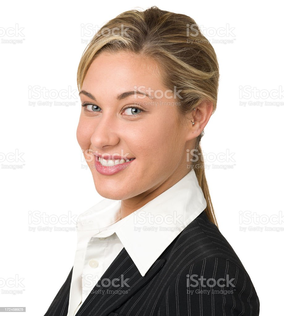 Smiling Young Businesswoman Portrait royalty-free stock photo