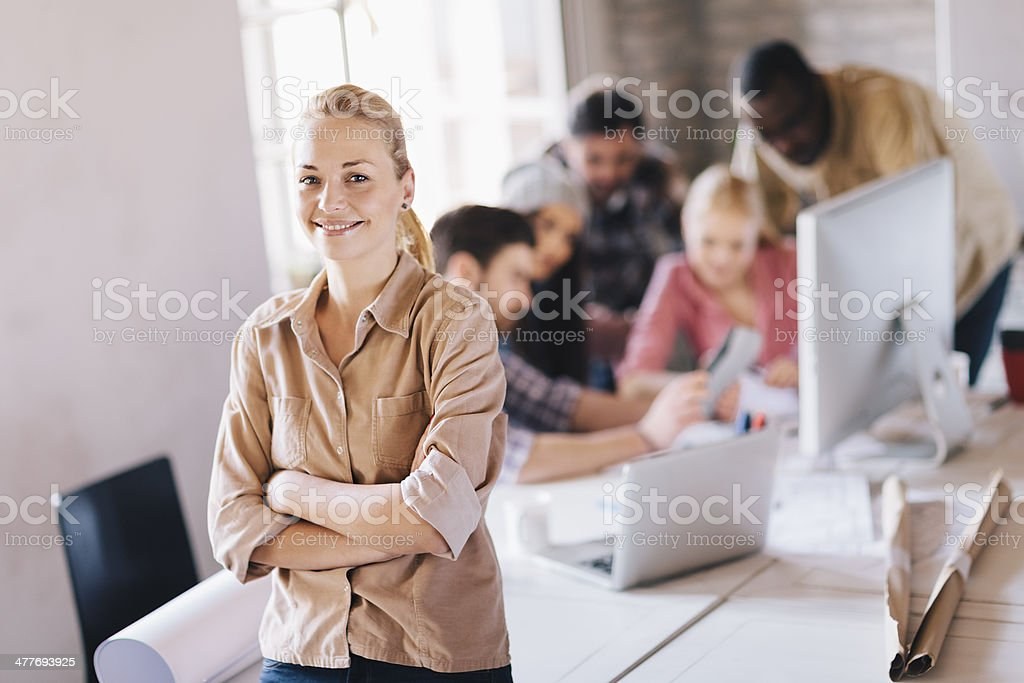 Smiling young designer royalty-free stock photo
