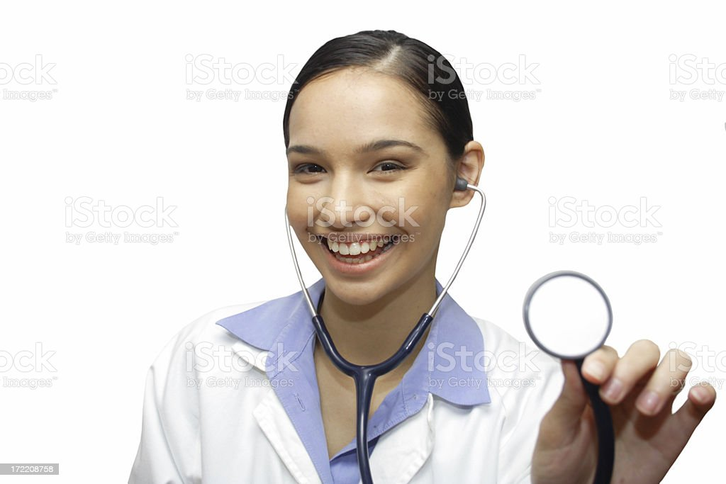 smiling young doctor stock photo