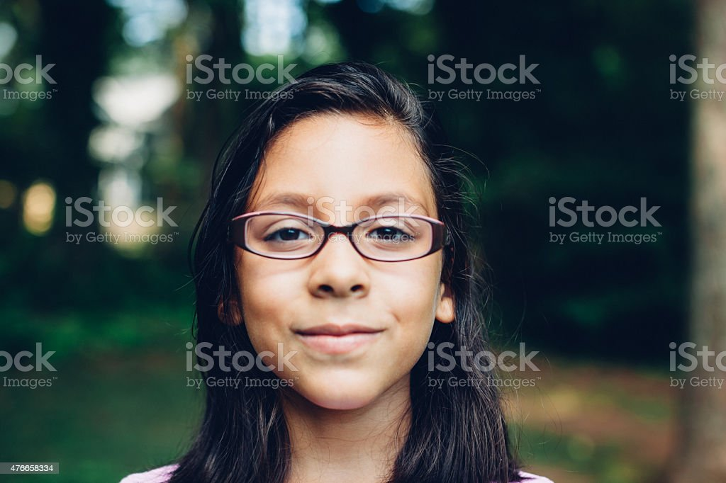smiling young ethic girl stock photo