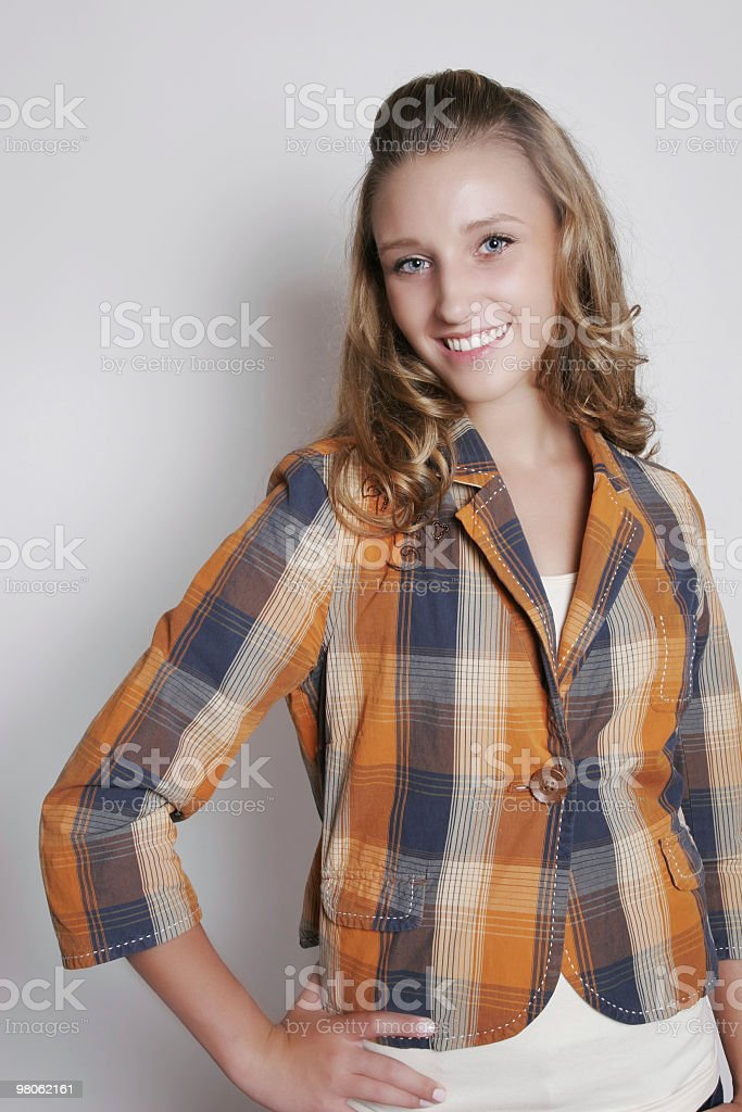 Smiling young female royalty-free stock photo