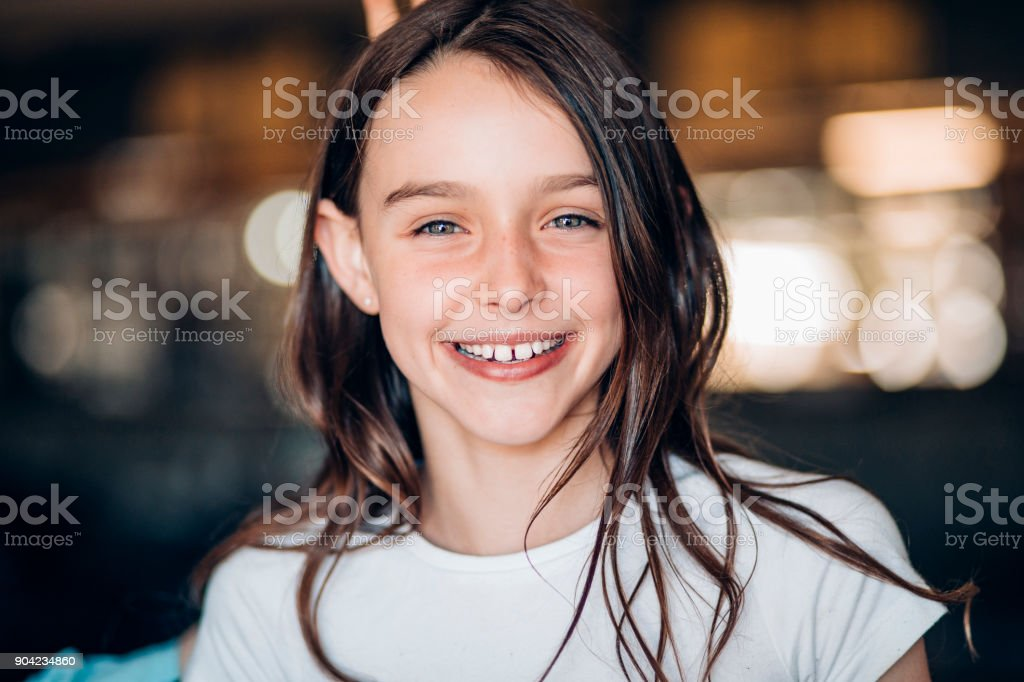 Smiling Young Girl stock photo