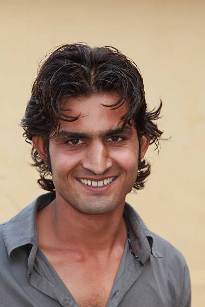 Smiling Young Indian Man stock photo
