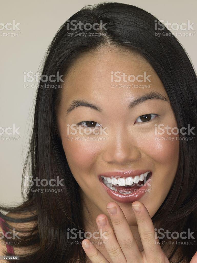 Smiling young Korean woman royalty-free stock photo