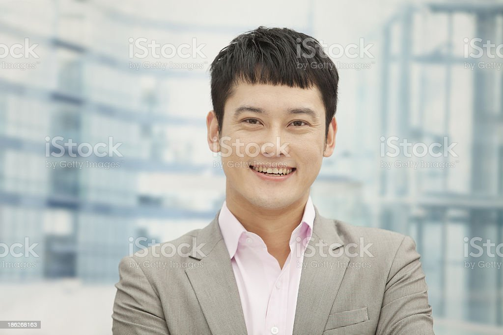 Smiling young man, portrait royalty-free stock photo
