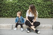 istock Smiling young mum talking with little daughter 1161244185