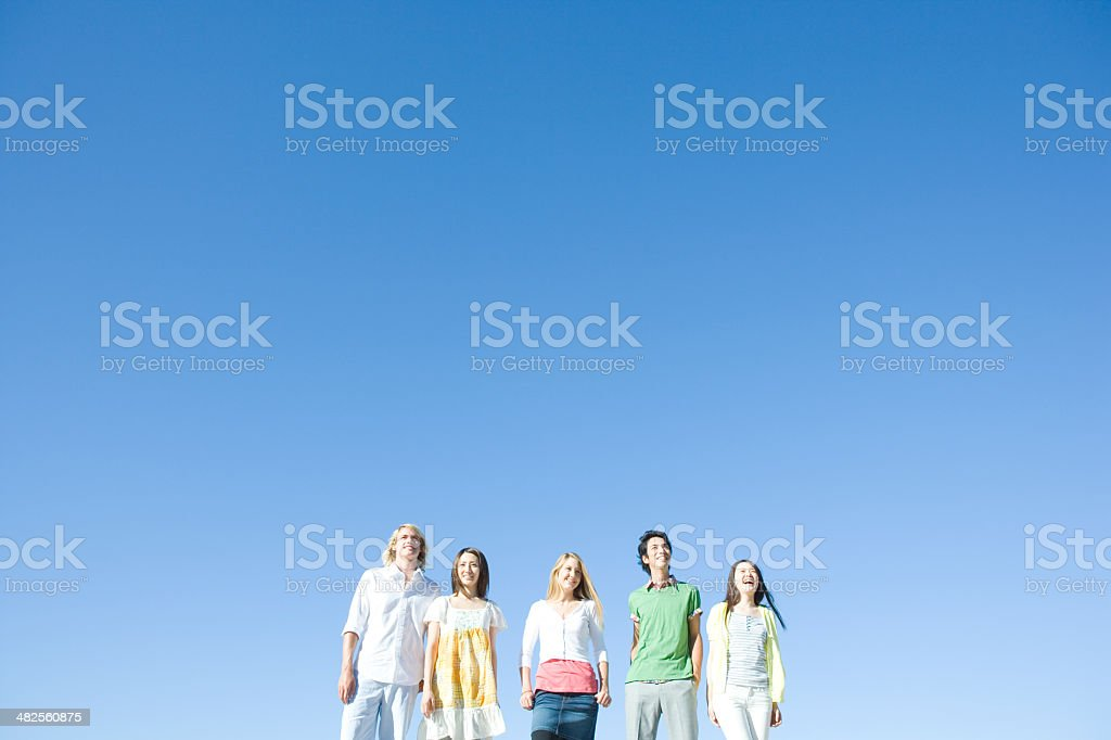 Smiling young people stock photo