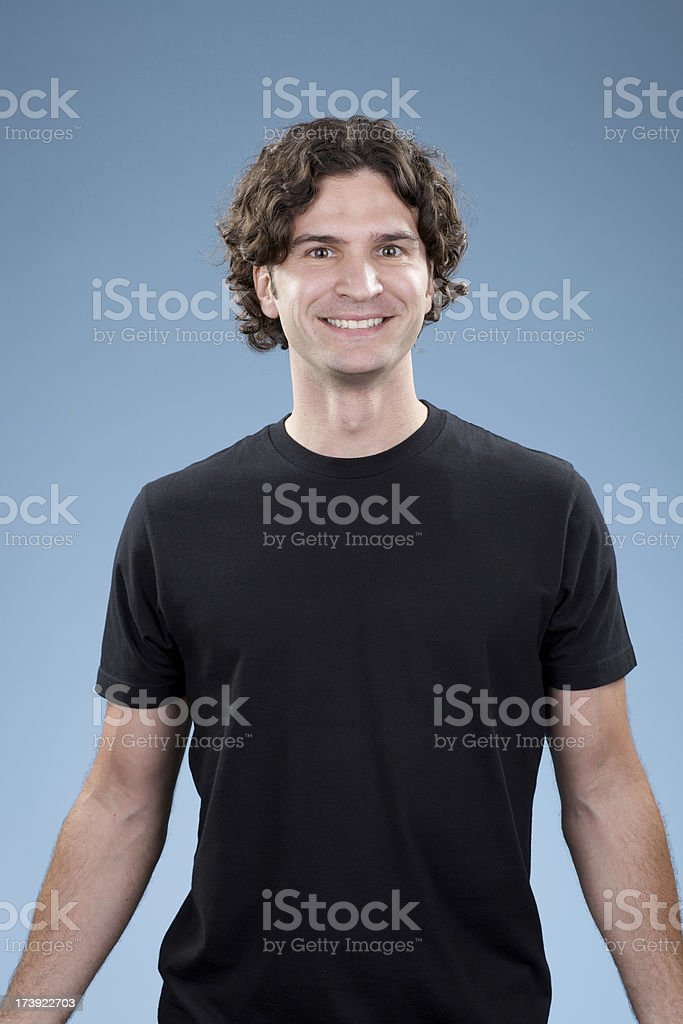 Smiling, young white male looking straight at camera royalty-free stock photo
