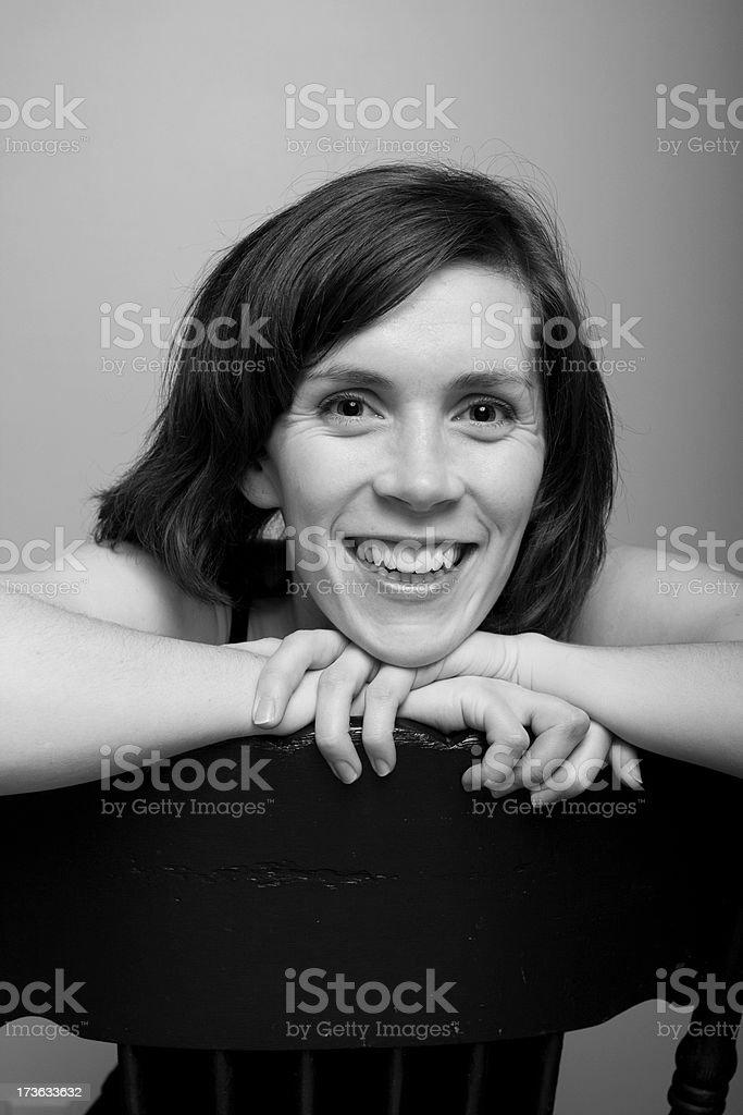Lächelnde junge Frau – Foto