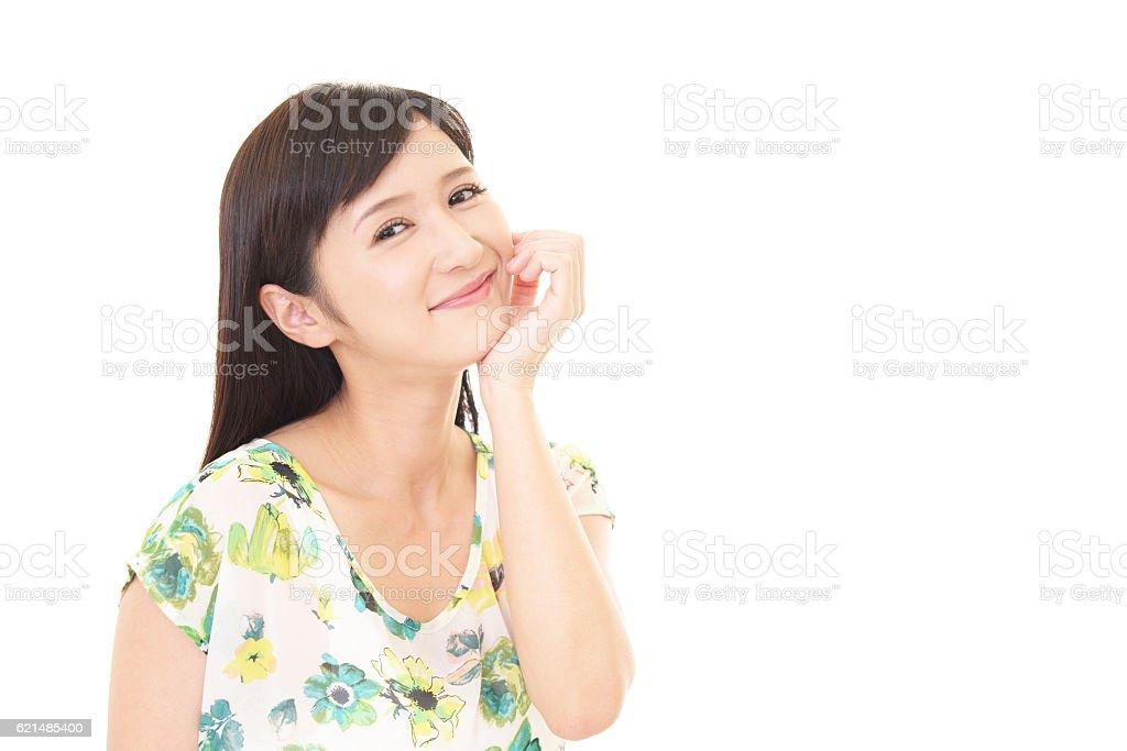 Lächelnde junge Frau  Lizenzfreies stock-foto