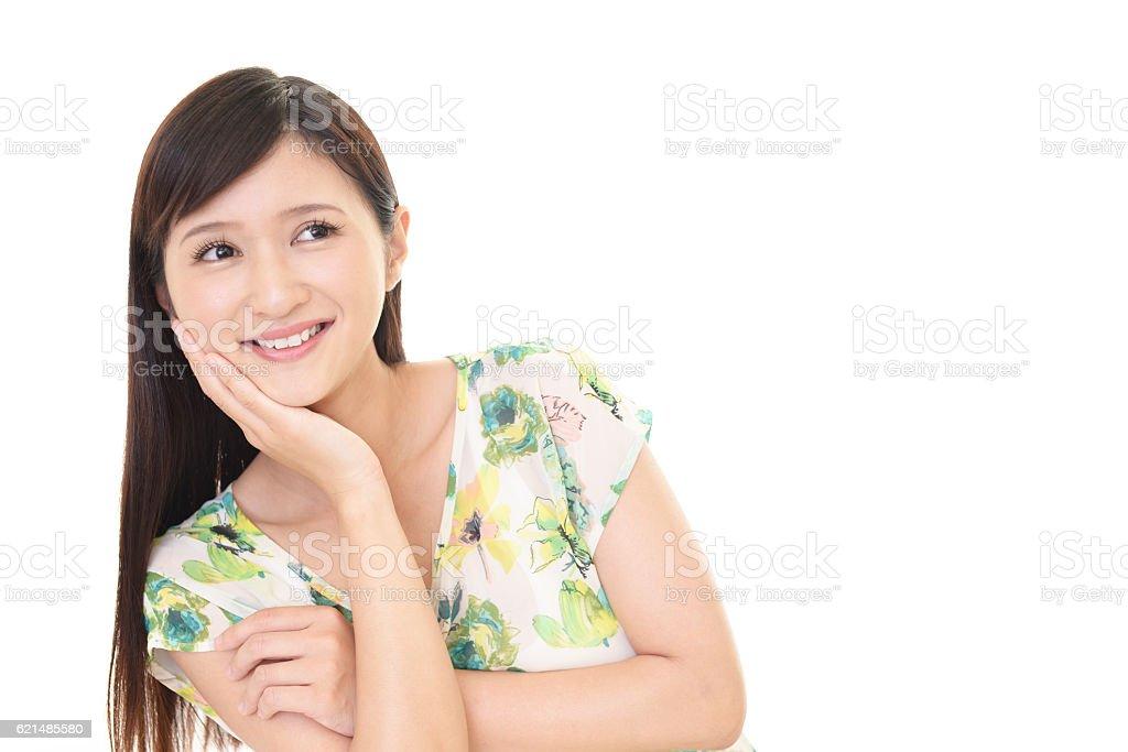 Souriante jeune femme  photo libre de droits