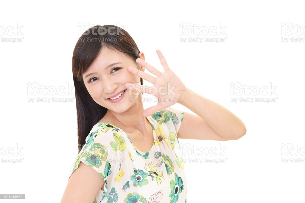 Sorridente giovane donna  foto stock royalty-free