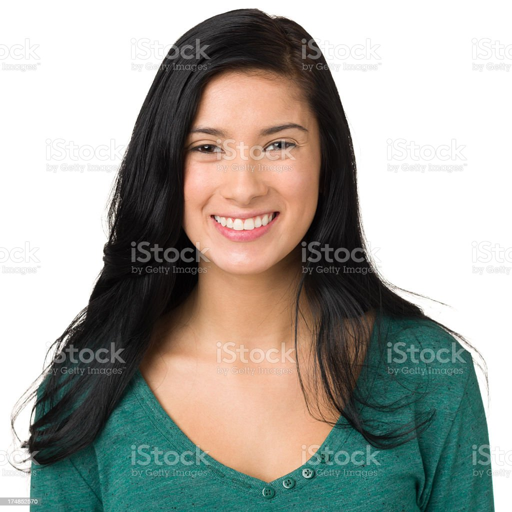 Smiling Young Woman Portrait stock photo