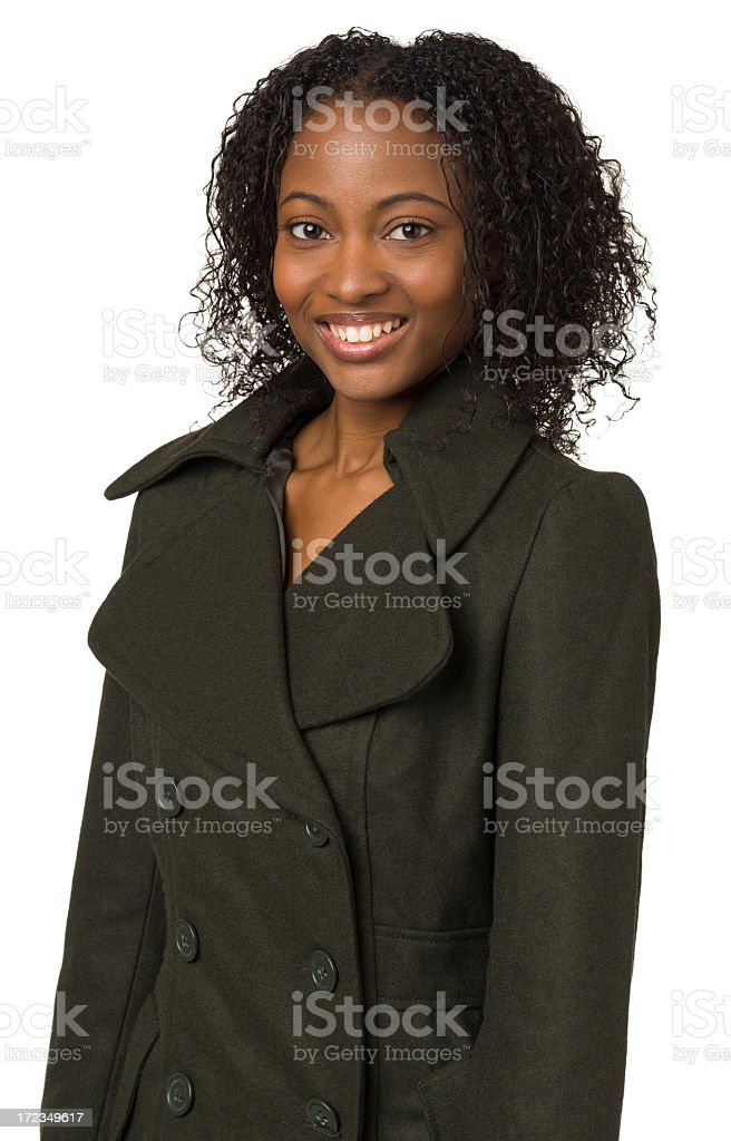 Smiling Young Woman Waist Up Portrait royalty-free stock photo