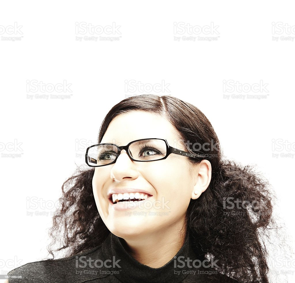 Smiling Young Woman With Glasses royalty-free stock photo