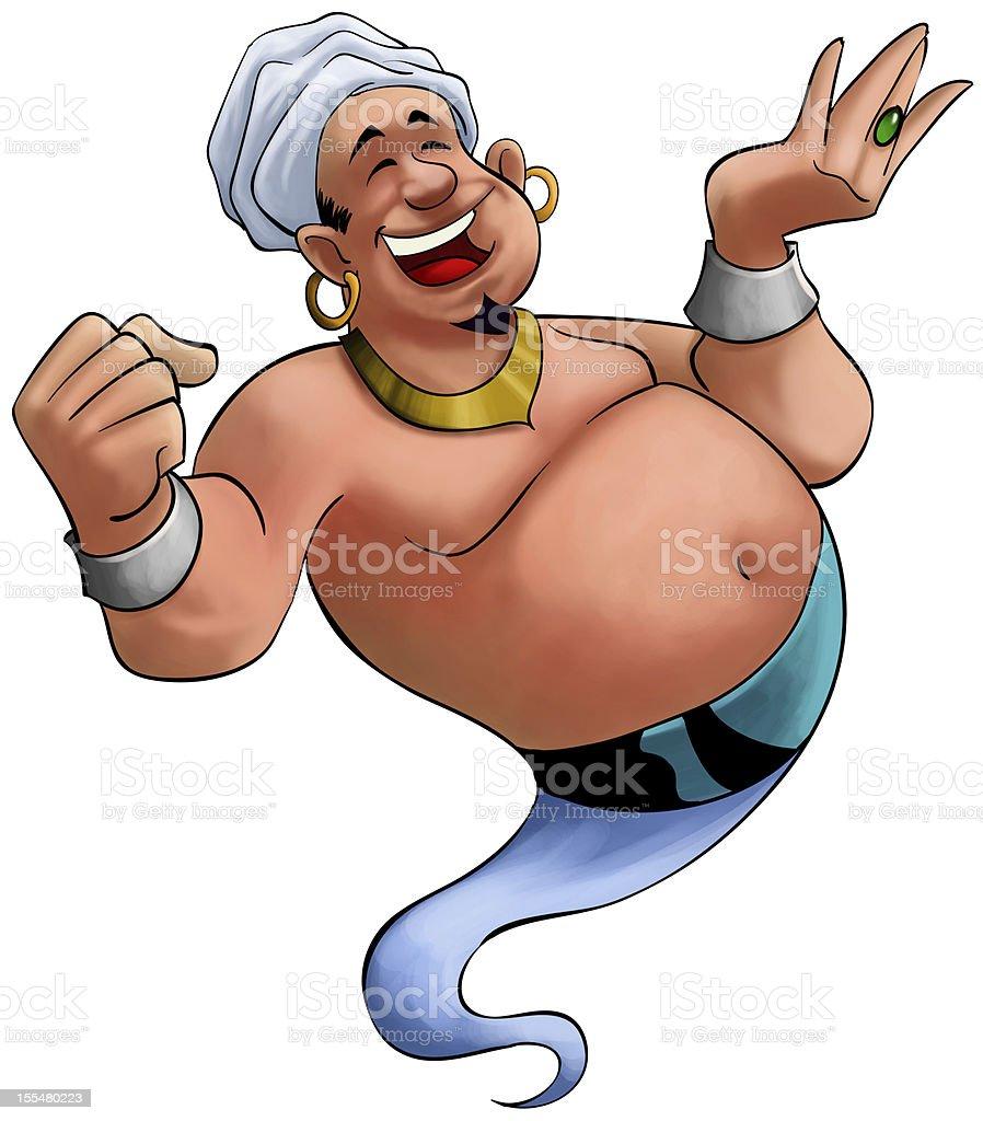 smilley genie stock photo
