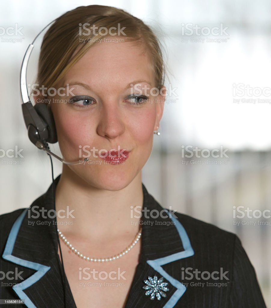 Smirking Staff royalty-free stock photo