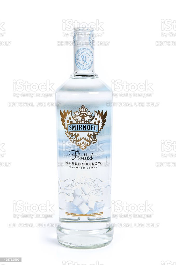 Smirnoff Fluffed Marshmallow stock photo