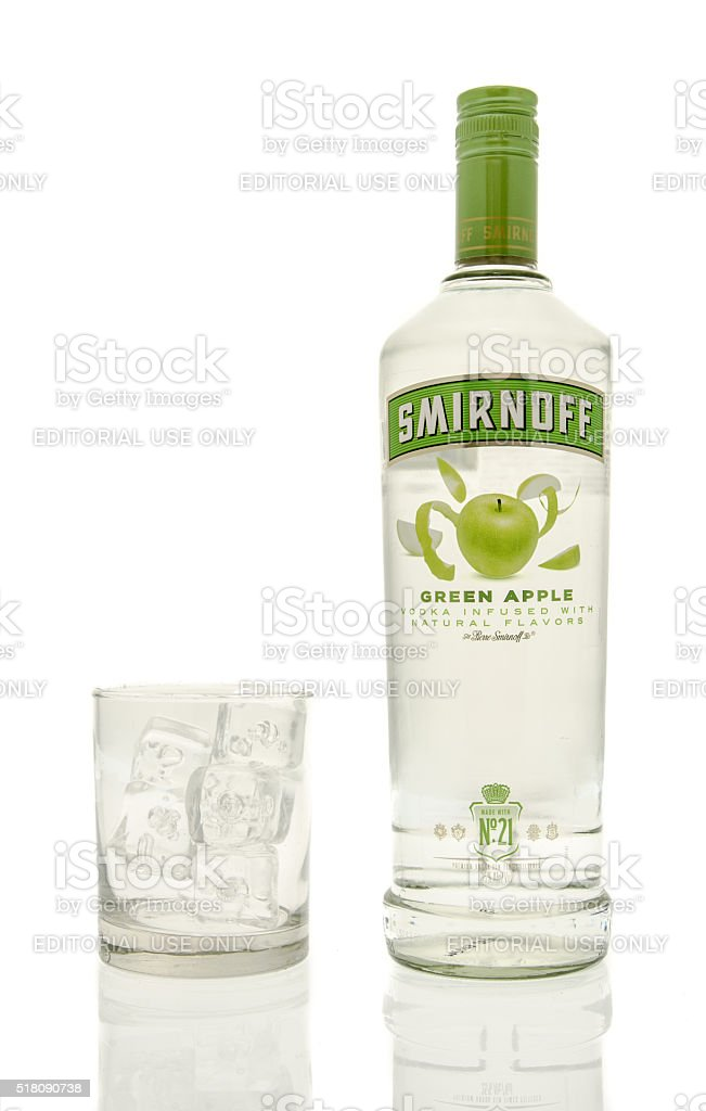 Smirnoff Green Apple Vodka stock photo