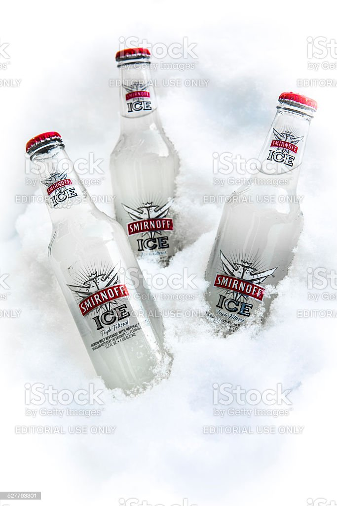 Smirnoff Ice Bottles stock photo
