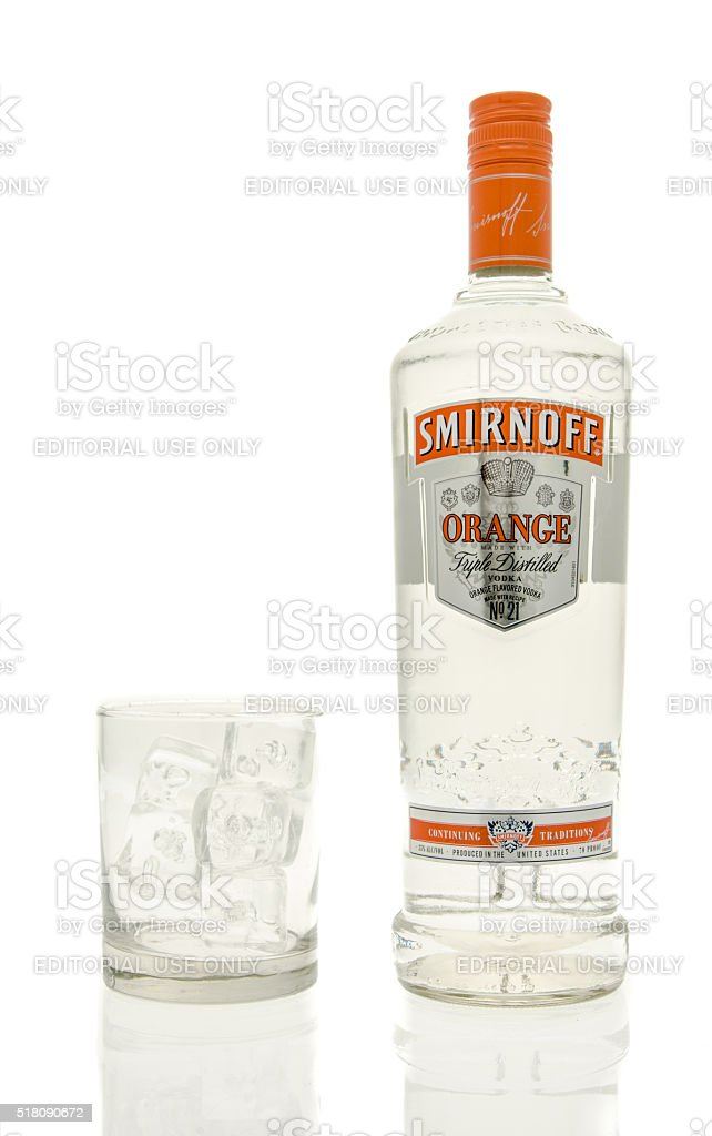 Smirnoff Orange Vodka stock photo