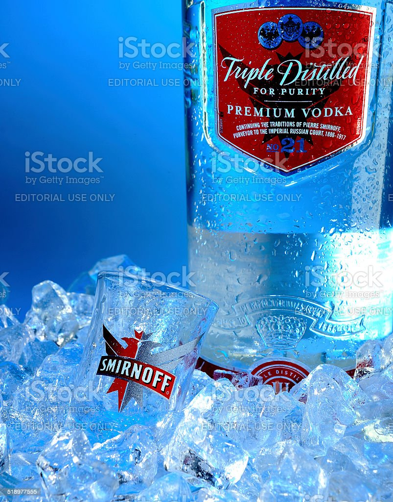 Smirnoff Tripple Distilled stock photo