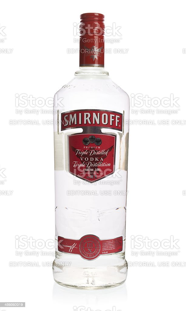 Smirnoff Vodka Bottle stock photo