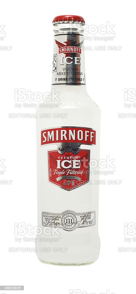 smirnoff vodka mixed drink stock photo