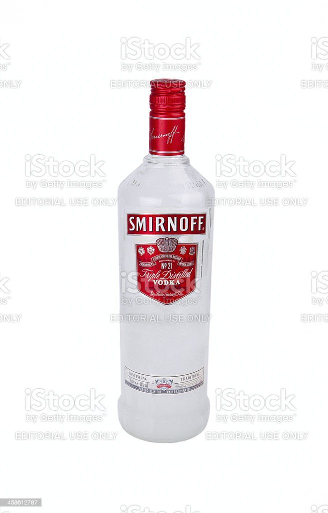 Smirnoff vodka stock photo