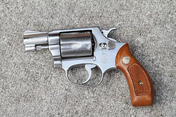 Smith and Wesson 38 caliber revolver stock photo