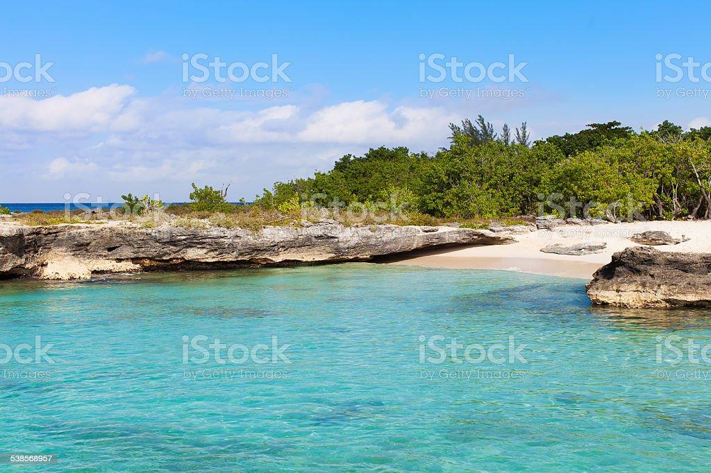 smith cove beach at grand cayman stock photo