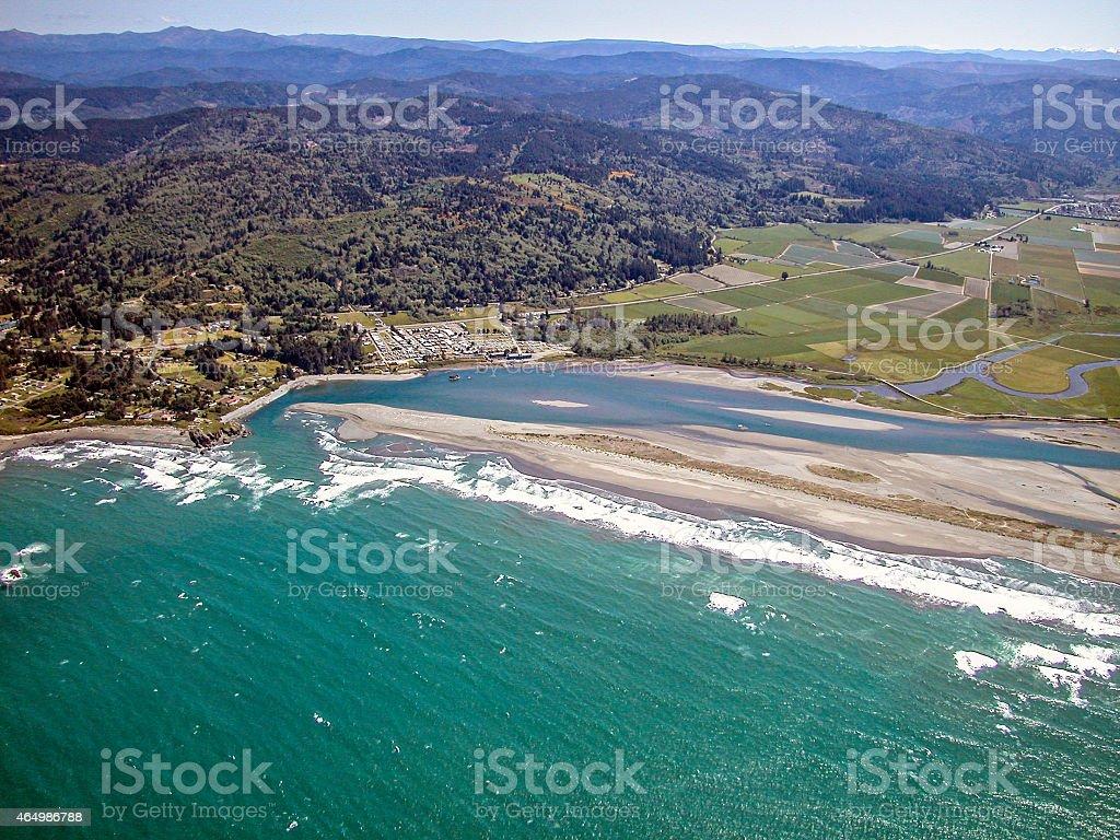 Smith river aerial photo. stock photo
