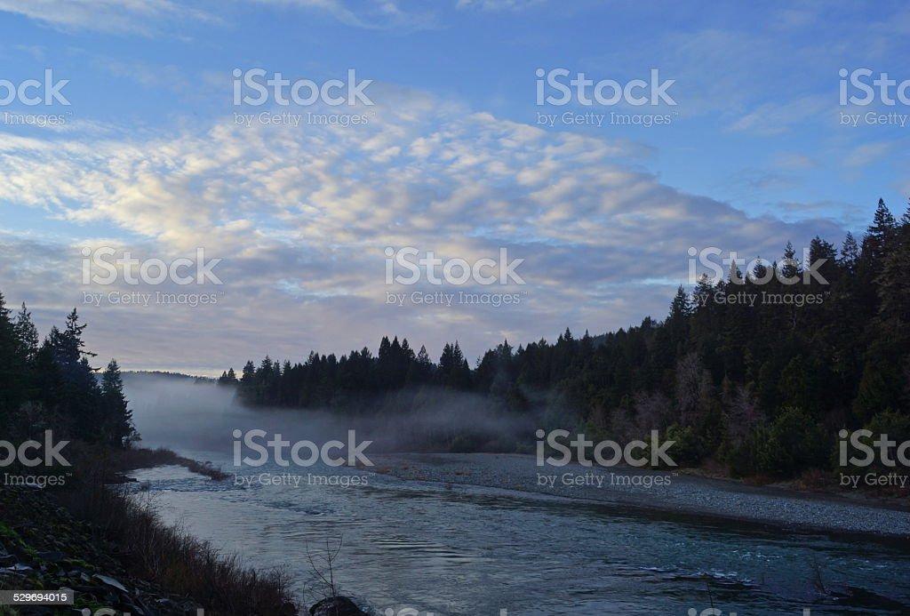 Smith River Sunset stock photo